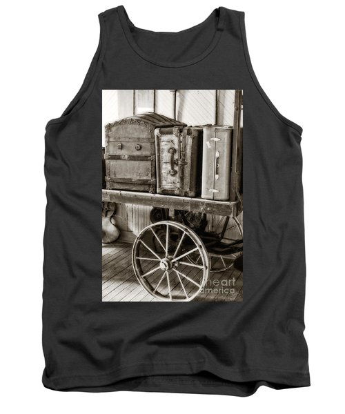 Train Station Luggage Cart Tank Top