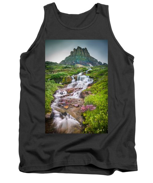 Triple Falls Stream Glacier National Park Tank Top