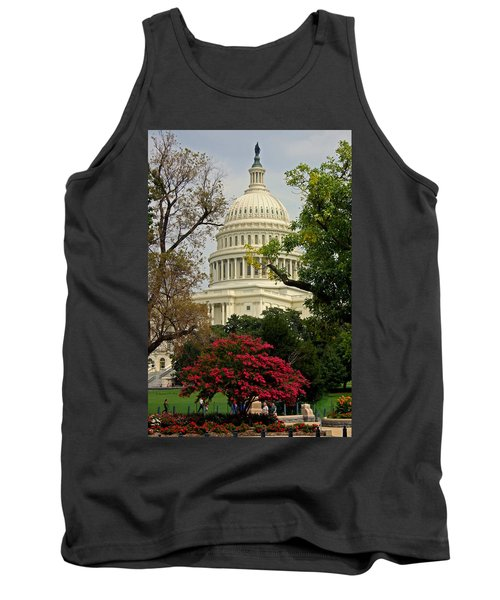 Tank Top featuring the photograph United States Capitol by Suzanne Stout