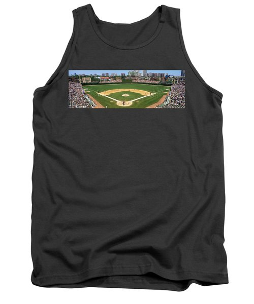Usa, Illinois, Chicago, Cubs, Baseball Tank Top by Panoramic Images