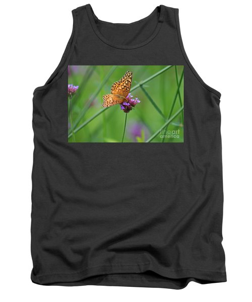 Variegated Fritillary Butterfly In Field Tank Top