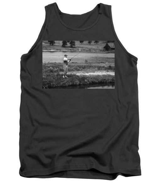 Tank Top featuring the photograph Vintage Fly Fishing by Ron White