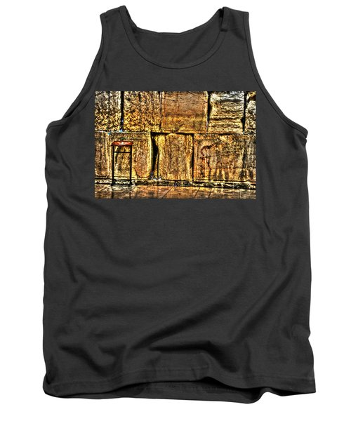 Tank Top featuring the photograph Wailing Wall by Doc Braham