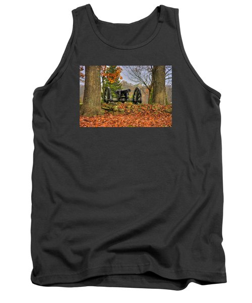 Tank Top featuring the photograph War Thunder - The Charlotte North Carolina Artillery Grahams Battery West Confederate Ave Gettysburg by Michael Mazaika