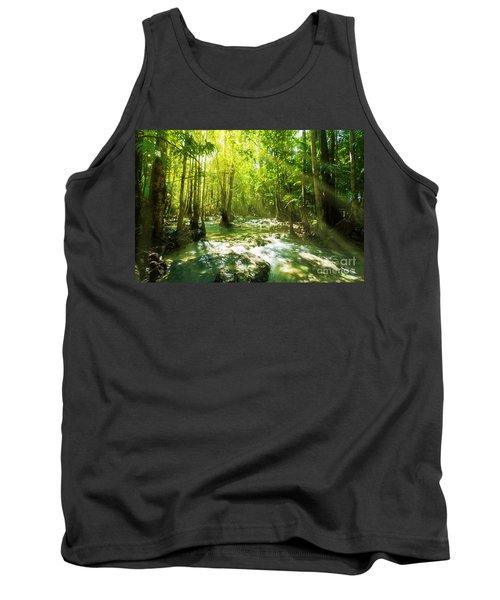 Waterfall In Rainforest Tank Top
