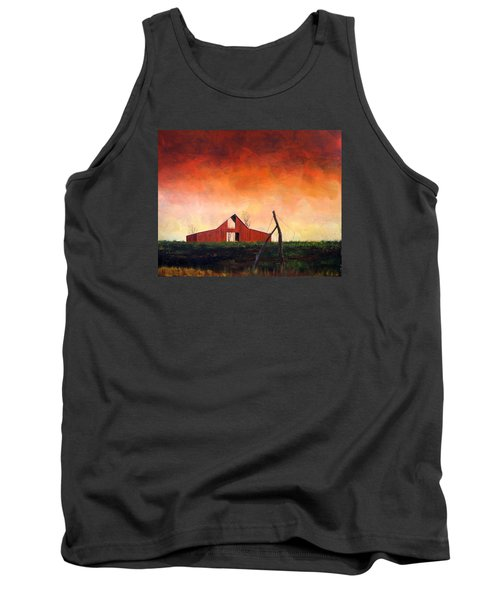 Tank Top featuring the painting Wired Down by William Renzulli