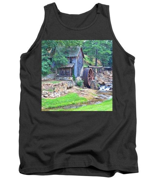 Sixes Mill On Dukes Creek - Square Tank Top
