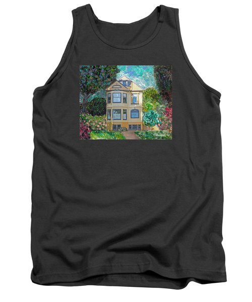 Tank Top featuring the mixed media Alameda 1895 Quenn Anne by Linda Weinstock