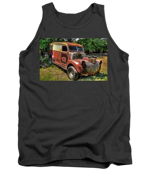 Tank Top featuring the photograph 1941 Chevy Van by Paul Mashburn