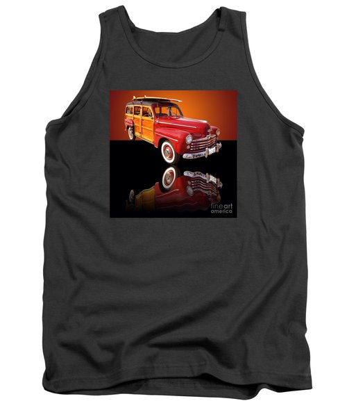1947 Ford Woody Tank Top by Jim Carrell