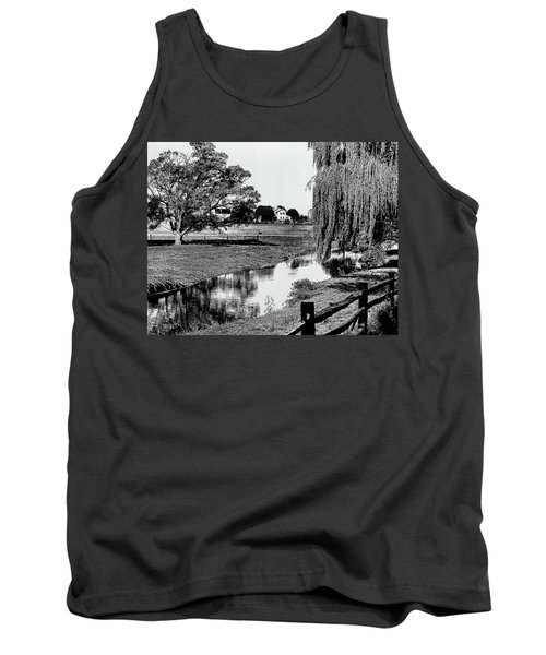 1960s Line Tone Graphic Effect Of Farm Tank Top