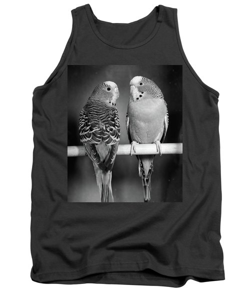 1960s Pair Of Parakeets Perched Tank Top