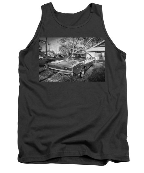 1968 Dodge Charger The Bullit Car Bw Tank Top