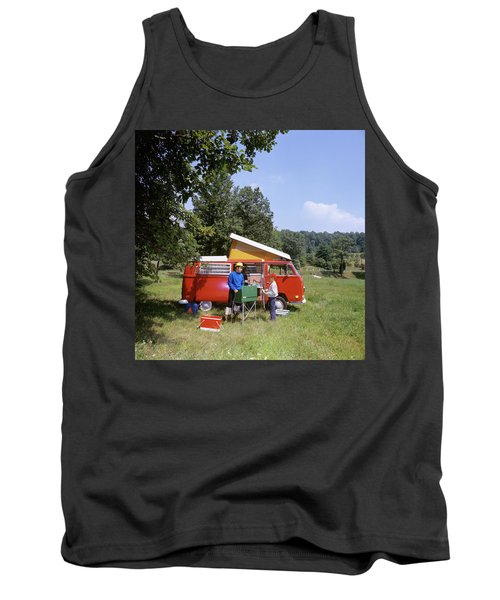 1970s Father And Son Cooking Tank Top