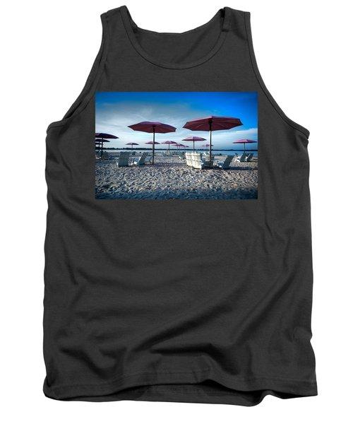 Umbrellas On The Beach Tank Top
