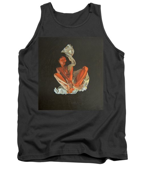 Tank Top featuring the painting 2 30 Am by Thu Nguyen