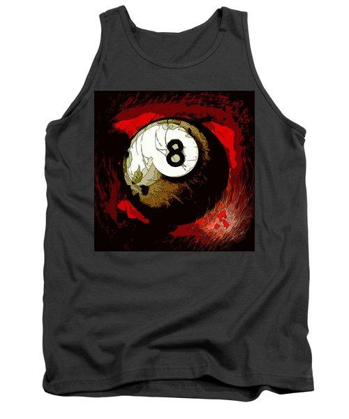 8 Ball Billiards Abstract Tank Top