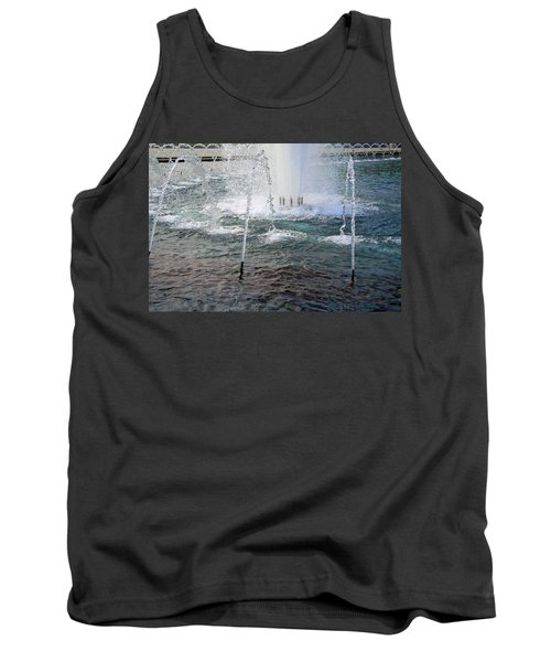 Tank Top featuring the photograph A World War Fountain by Cora Wandel