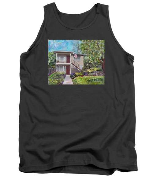 Tank Top featuring the painting Alameda 1908 Duplex  by Linda Weinstock