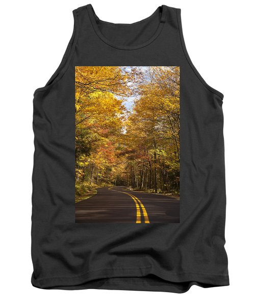 Tank Top featuring the photograph Autumn Drive by Andrew Soundarajan