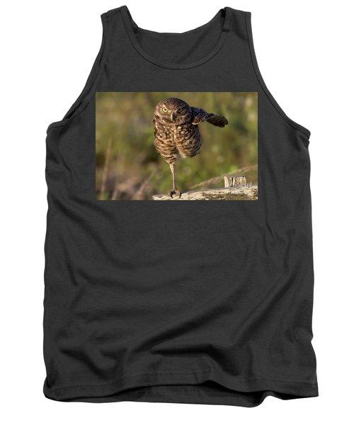 Burrowing Owl Photograph Tank Top