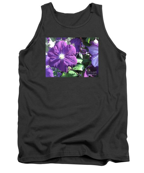 Clematis With Blazing Center Tank Top