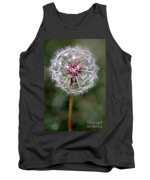 Tank Top featuring the photograph Dandelion Seed Head by Henrik Lehnerer