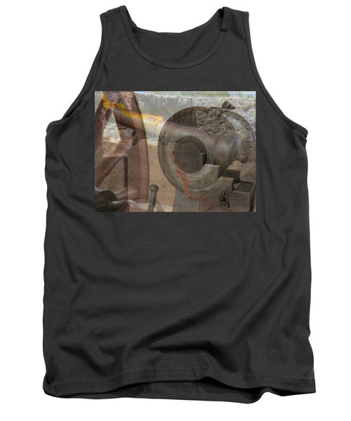 Tank Top featuring the photograph Fire In The Hole by Ella Kaye Dickey