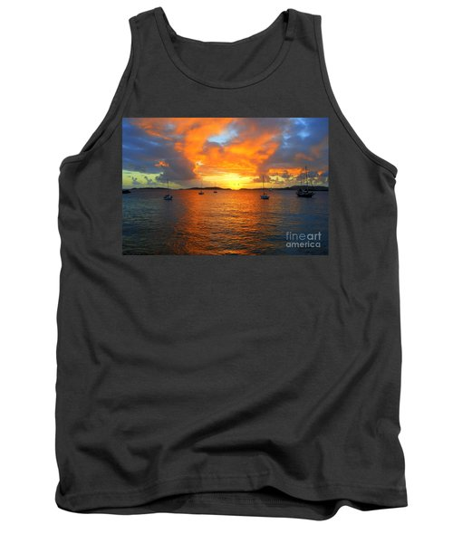 Frank Bay St. John U. S. Virgin Islands Sunset Tank Top