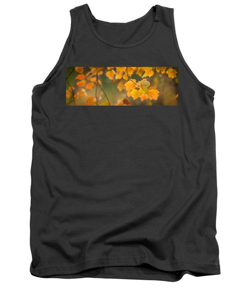 Golden Fall Leaves Tank Top
