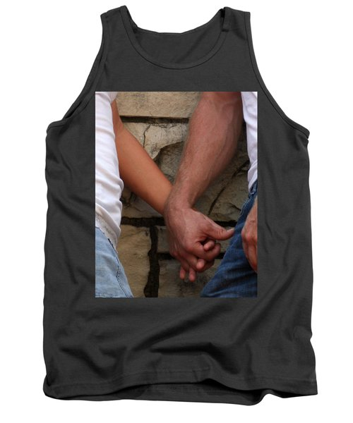 Tank Top featuring the photograph I Wanna Hold Your Hand by Lesa Fine