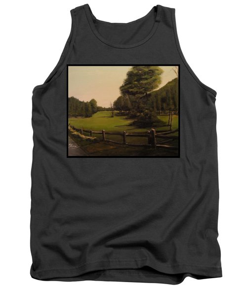 Landscape Of Duxbury Golf Course - Image Of Original Oil Painting Tank Top