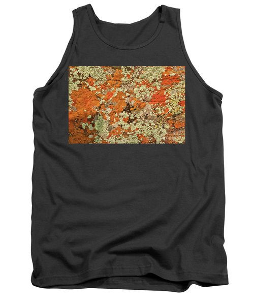 Tank Top featuring the photograph Lichen Abstract by Mae Wertz