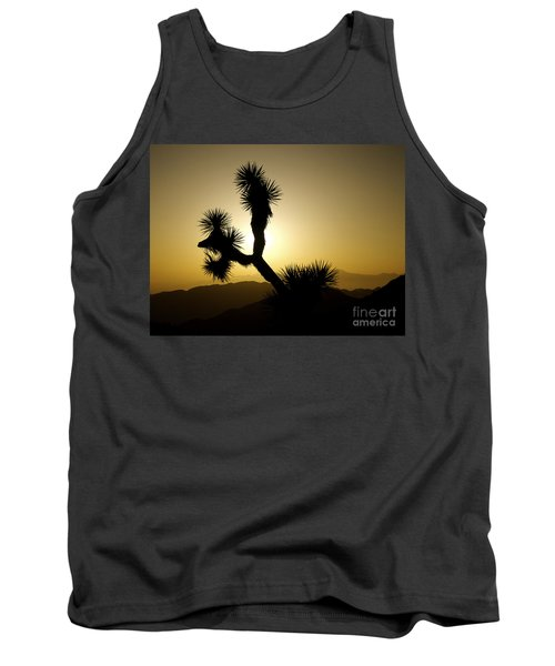 New Photographic Art Print For Sale Joshua Tree At Sunset Tank Top