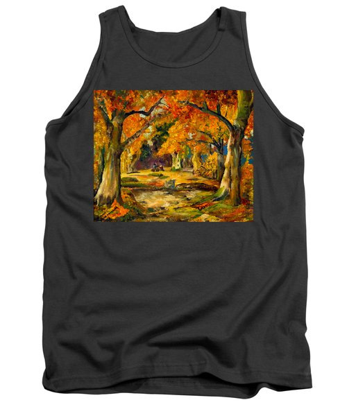 Tank Top featuring the painting Our Place In The Woods by Mary Ellen Anderson