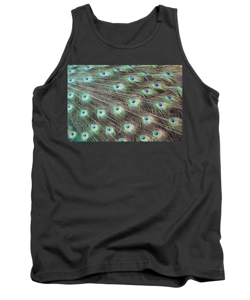 Tank Top featuring the photograph Peacock Feather Fiesta  by Diane Alexander