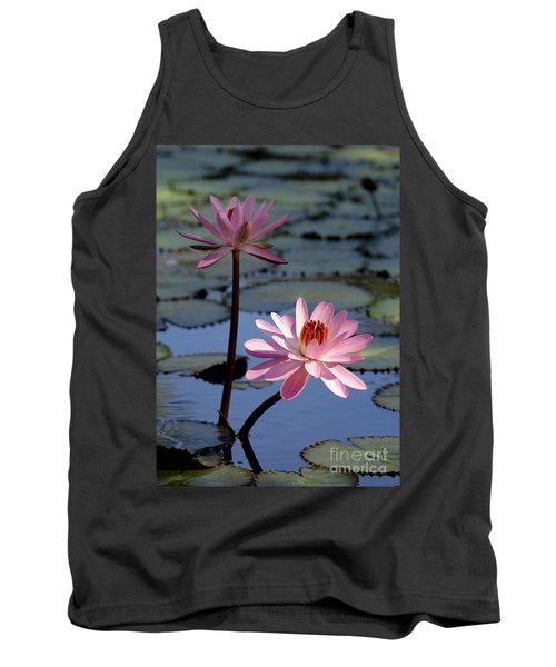 Pink Water Lily In The Spotlight Tank Top