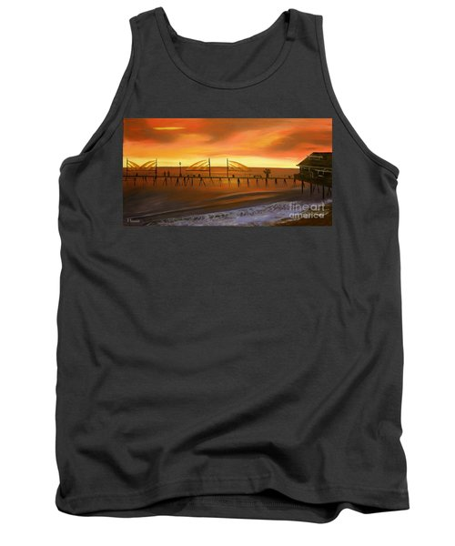 Redondo Beach Pier At Sunset Tank Top