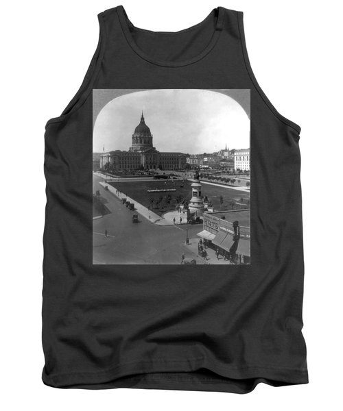 Tank Top featuring the photograph San Francisco City Hall by Granger