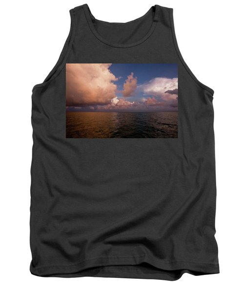 Scenic View Of Seascape At Sunset Tank Top