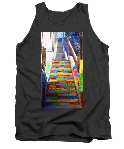 Stairway To Heaven Valparaiso  Chile Tank Top by Kurt Van Wagner