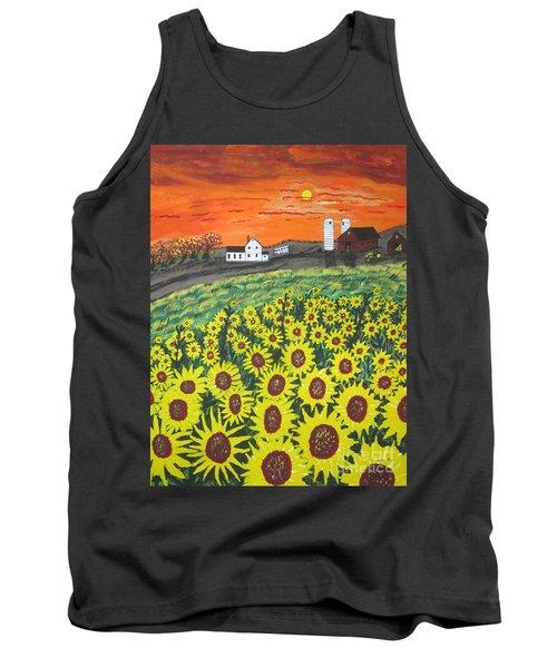 Sunflower Valley Farm Tank Top by Jeffrey Koss