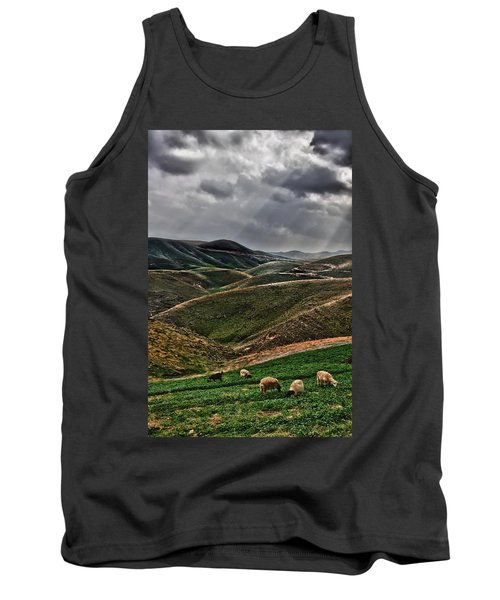 The Lord Is My Shepherd Judean Hills Israel Tank Top