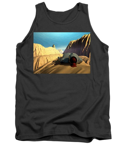 Tank Top featuring the digital art The Midlife Dreamer by John Alexander