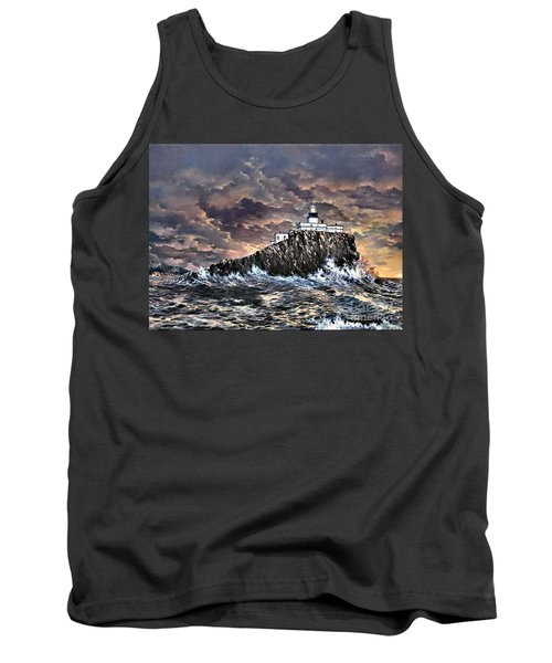 Tank Top featuring the painting Tillamook Rock Light by Lynne Wright
