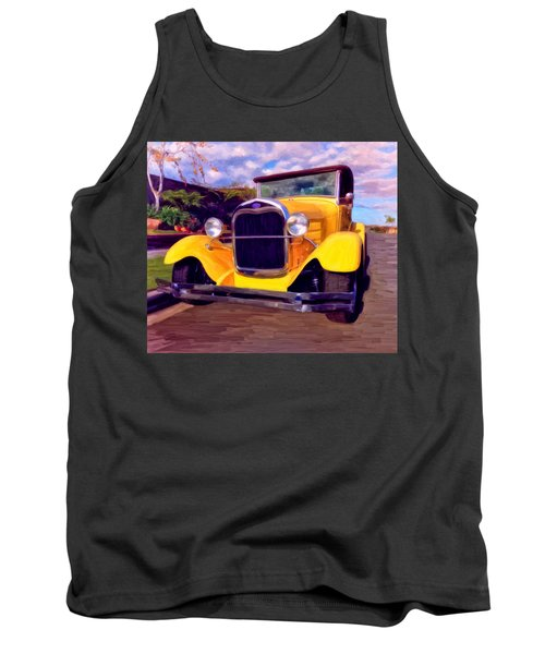 Tank Top featuring the painting '28 Ford Pick Up by Michael Pickett