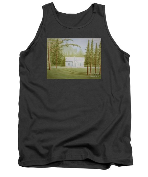 Tank Top featuring the painting A North Carolina Church by Stacy C Bottoms