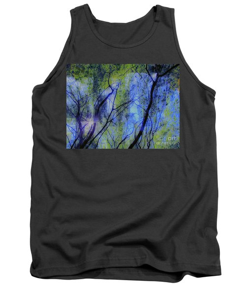 Abstract Forest Tank Top by France Laliberte