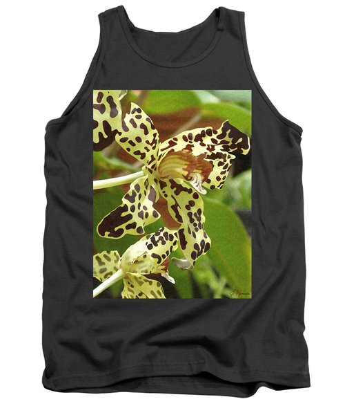 Leopard Orchids Tank Top