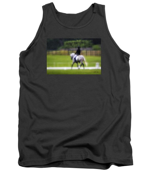 Tank Top featuring the photograph Rainy Day Dressage by Joan Davis